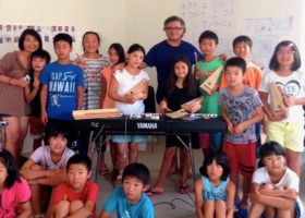 Bambini di Fukushima con il Maestro Chiddemi