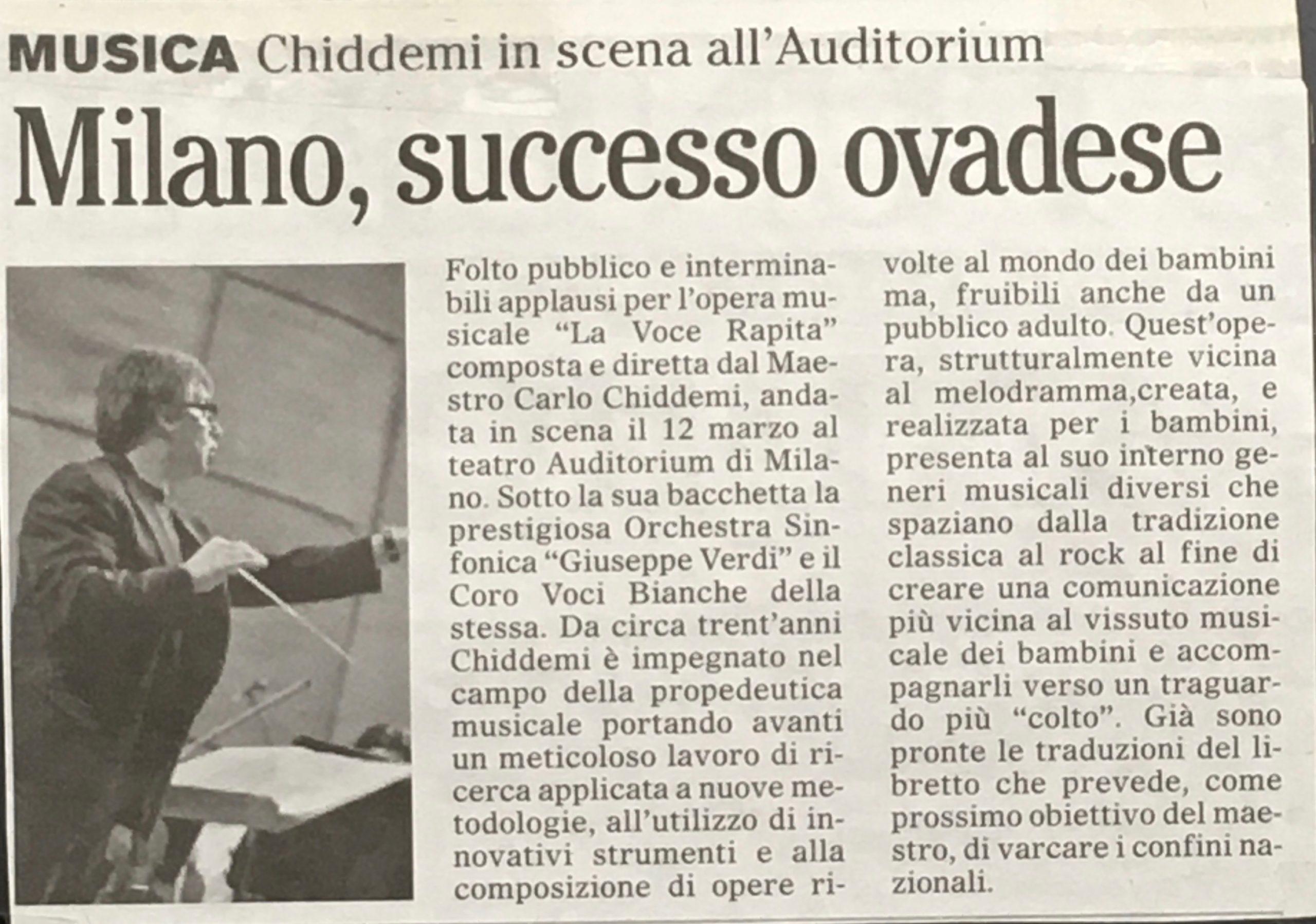 La voce Rapita - Auditorium Milano