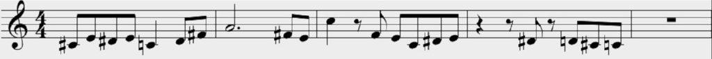Le colline di Klee - Dettaglio partitura